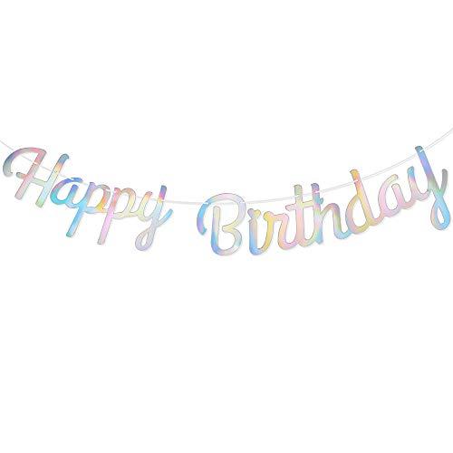 VINFUTUR Striscioni Compleanno Ghirlande Decorazioni Feste di Compleanno Birthday Banner Bandierine di Buon Compleanno Happy Birthday