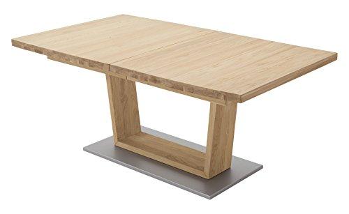 Robas Lund Esstisch Tisch ausziehbar Massivholz Wildeiche, Cantania BxHxT 180x270 x 77 x 100 cm