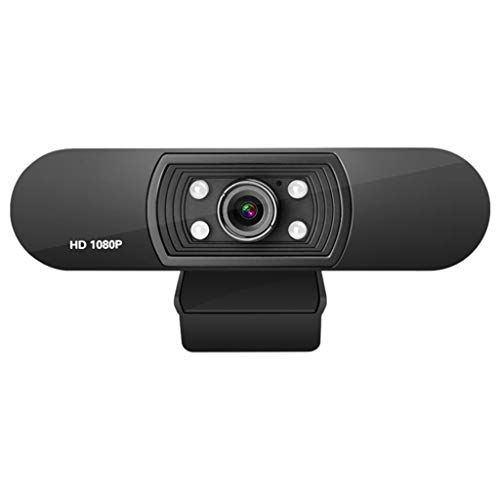 Xiangrun Webcams for Desktop Computer,Built-in Microphone ABS Computer Peripherals Video Conference 1080P H-D Webcam