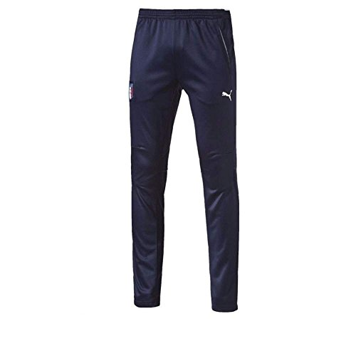 PUMA FIGC Coach Training.peaco Survêtement Homme, Peacoat/White, FR : S (Taille Fabricant : S)