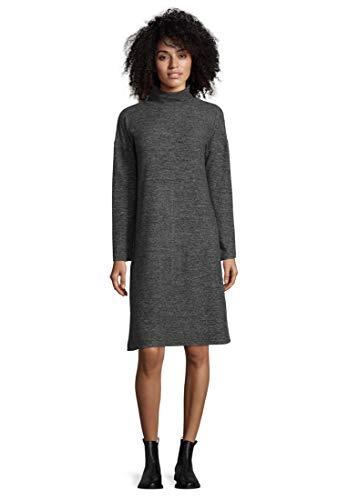 Cartoon Damen 8755/7178 Kleid, Grau (Dark Grey Melange 9711), (Herstellergröße: 38)