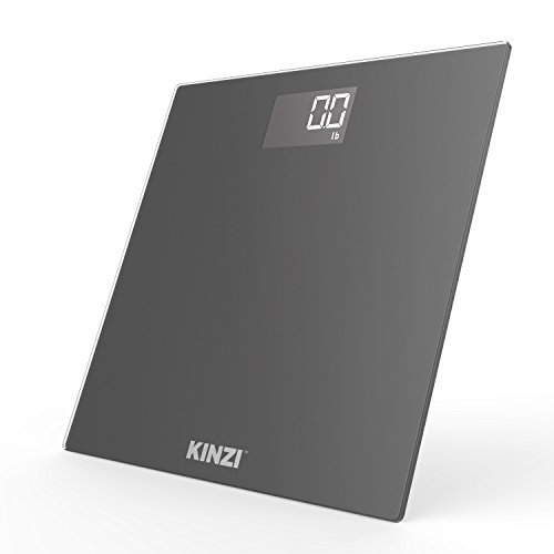 Kinzi New Precision Digital Bathroom Scale w/Extra Large Lighted Display and'Step-On' Technology [2019 New Version]