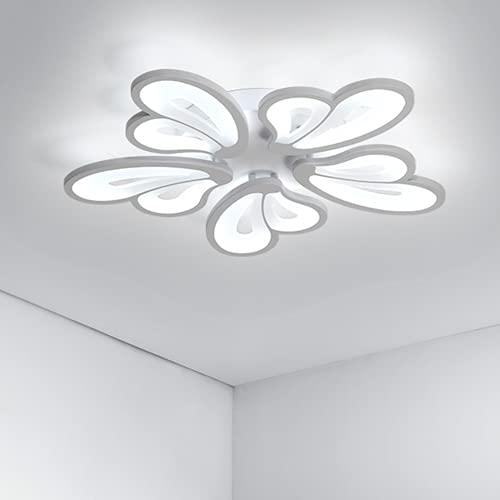 Osairous Lampadari LED, 65W Plafoniera LED Acrilico, 57CM Diametro Lampada da soffitto Moderno Paralume a Farfalla per Camera da letto, Soggiorno, Hotel, Bicolore
