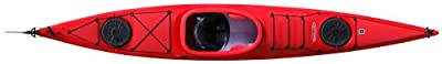 lifestylesoloPE-R Tahe Marine Lifestyle Solo PE Sit-In Recreational Kayak, Red from Kayak Distribution
