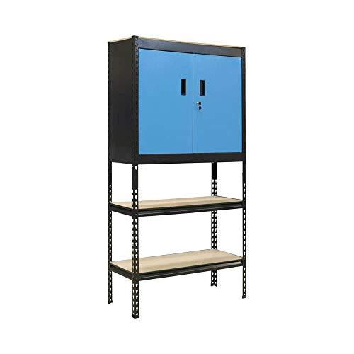 Güde Werkzeugschrank blau Materialschrank Werkstatt Werkzeug Steck-Regal-Schrank