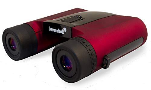 Prismáticos Levenhuk Rainbow 8x25 Red Berry (Rojo) para Viajes, Senderismo, Observación de Aves, Teatro y Eventos Deportivos, Ideales para Niños y Adultos (Ultraligeros: 280 gr)