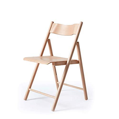LI MING SHOP Chaise De Salon De Balcon Extérieur En Bois Massif Avec Chaise Pliante En Hêtre Naturel Pouvant Supporter Un Poids De 80kg