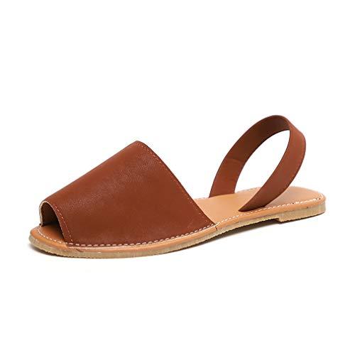 Sandalen Damen Sommer Sandaletten Flachen Frauen Knöchelriemchen Espadrille Plateau Flip Flop Sommersandalen Bequeme Elegante Schuhe Schwarz Weiß Rosa Gr.34-44 BR43