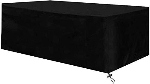 Cubierta para muebles de exterior impermeable 210 × 77 × 79 cm Cubierta de mesa de jardín Rectangular a prueba de desgarros Cubierta de muebles de patio A prueba de polvo para muebles como mesas y sil
