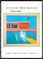 ポスター デビット ホックニー A Bigger Splash 1967 額装品 アルミ製ハイグレードフレーム(ブラック)