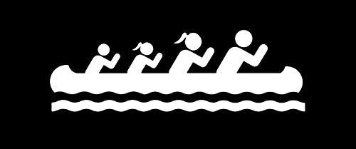 Bluegrass Decals Canoe Family Decal Sticker