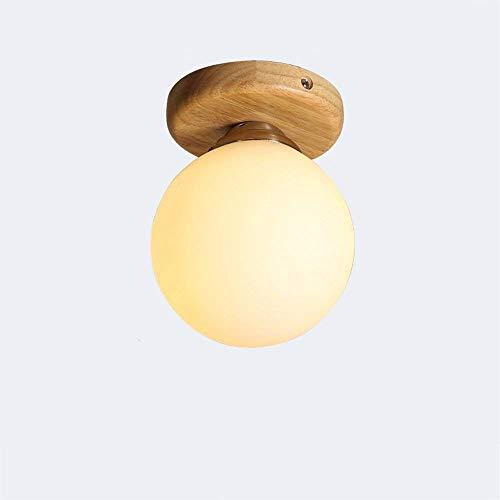 I LI WEI Juan prachtige lampen/moderne eenvoud hout solide plafond zonnescherm glas gesloten energiebesparend gemakkelijk te reinigen decoratieve Corridoio balkon badkamerlamp
