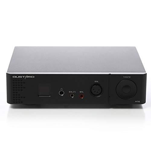 新登場 Gustard H16 ヘッドフォンアンプ Hifiプリアンプ XLR/RCAバランスプリアンプ 高解像度 OLED3.5mm/4.4mm/4pin/6.35/SE 出力デスクトップホームオーディオアンプ 黒