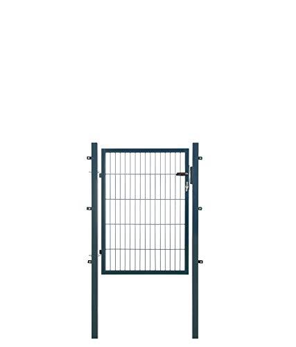 Koll Living Gartentore für Stabmattenzaun - Farbe und Höhe wählbar - inkl. Pfosten und Befestigungsmaterial (Gartentor H 100 x B 100 cm, anthrazit)