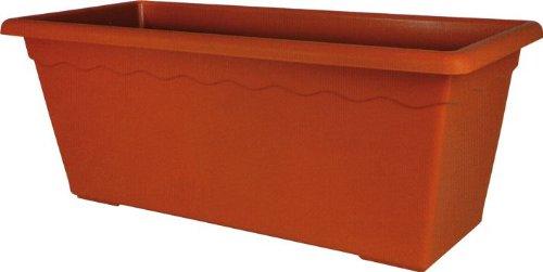 OEM Systems Vase rectangulaire MAXI en polypropylène 100x44x40cm Couleur terre cuite opaque