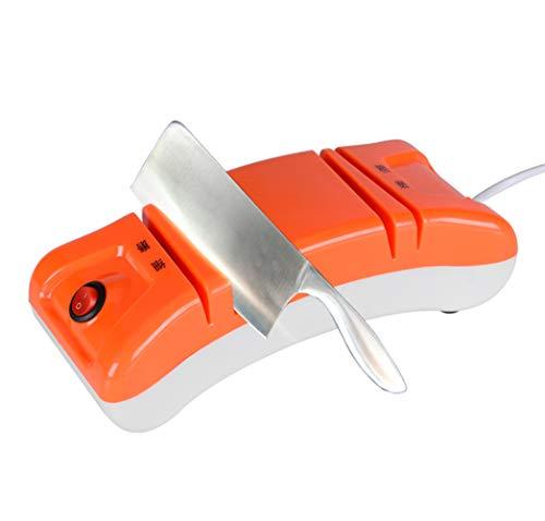 LYzpf Affilacoltelli Elettrico Coltelli da Cucina Portatili Affilatura di Posate Professionali Utensili da Taglio per Chef e Uso Domestico