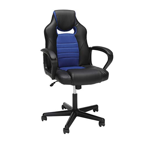 OFM Essentials Collection Racing Style Gaming Chair, in Blue (ESS-3083-BLU) blue chair gaming