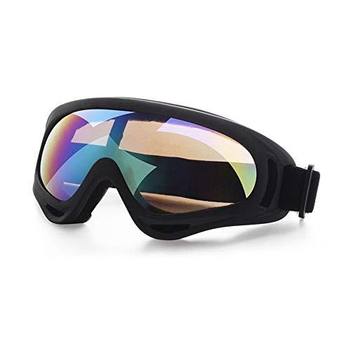 JFSZZ Lentes Gafas de Deporte al Aire Libre del esquí de la Motocicleta de protección Protección Montar los vidrios Anti-UV (Color : Green)