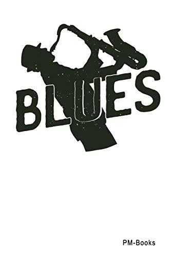 Blues: Gepunktetes A5 Notizbuch oder Heft für Schüler, Studenten und Erwachsene