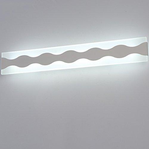Lámpara Elegantes faros de espejo de baño, luces de espejo de baño led Impermeable de humedad dormitorio tocador lámparas de maquillaje Luces de baño (Color : Warm light)