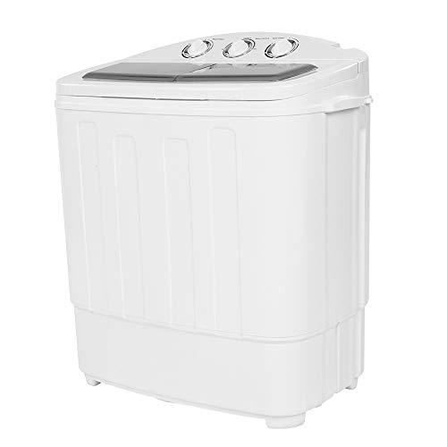 Pissente Toplader, wasmachine, 220 V, 2-in-1 wasmachine met centrifugedroger, wasmachine tot 11 lb, centrifugeerkamer 7 lb