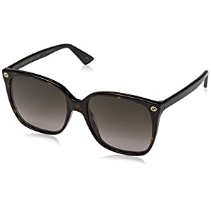 Fashion Shopping Gucci Women Design Sunglasses GG0022S 003 Havana Brown Gold With Dark lens