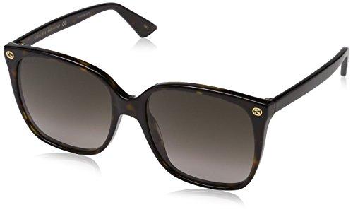 Fashion Shopping Gucci Women Design Sunglasses GG0022S 003 Havana Brown Gold With Dark lens