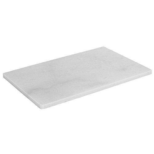 Home Basics 8' x 12' Marble, White Cutting Board, One Size