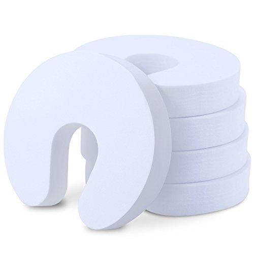 Türstopper Schaumstoff, BEZ® Finger Klemmschutz Baby [5 Stück], Tür Stopper Kindersicherung für Kinder - Weiß