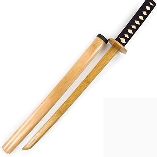 JXINGY Cuchillo de Madera con Vaina, Espada de Madera, Espada de bambú, Entrenamiento de Artes Marciales, Cuchillo de bambú, katanas de Madera, Accesorios para Armas de Juego de rol