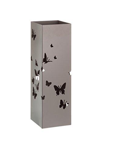 Portaombrelli in Metallo Design Moderno Farfalle Due Colori, Casa e altro ancora - Beige
