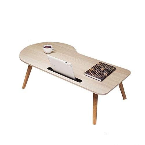 Petite Table Basse Table en Baie vitrée Table d'appoint Simple Balcon Table Basse Pliante Table en Bois Massif Chic