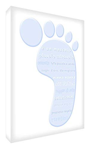 Feel Good Art FOOT-A6BLK-01IT 14.8 x 10.5 x 2 cm Soft Blue