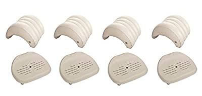 Intex Pure Spa Hot Tub Removable Headrest & Seat Accessories (4-Pack)