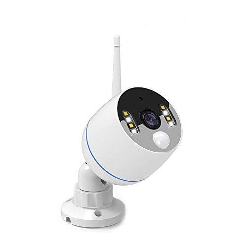 YESKAMO Überwachungskamera mit Flutlicht WiFi Kamera 1080P im Freien mit Zweiweg sprechen & Audio Aufnahme, PIR-Bewegungsmelder aktiviert Alarm, Sirene Alarm, Farbe Nachtsicht, 32G SD Card Speichern