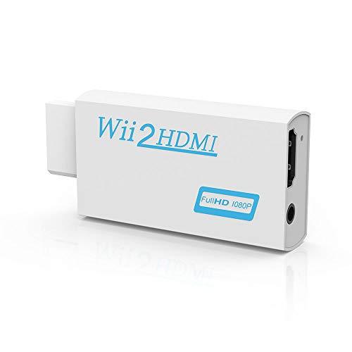 Wii zu HDMI Adapter, Konsolen Adapter,Wii to HDMI 720p/1080P HD Converter Adapter mit 3,5mm Audioausgang Wii zu HDMI Konverter für Wii Monitor Beamer Fernseher