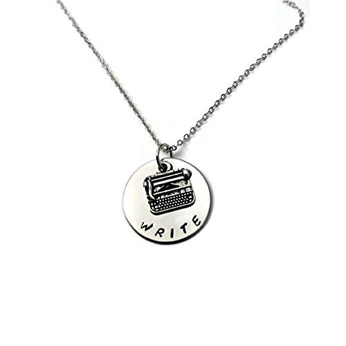WRITE inspirational writers necklace for encouragement and achievement, author gift