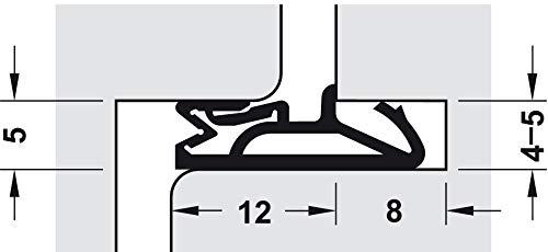 Gedotec Haustürdichtung 12mm Silikon-Türdichtung weiss - SV 112 | Dichtung mit Nutbreite 4–5 mm | TPE - thermoplastisches Elastomer | MADE IN GERMANY | 6 Meter - Tür-Dichtung Haustür im Bund