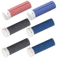 Micro Pedi rodillos de repuesto MPREF ruedas 3x 2–2x Gris, 3x Azul, 1x Rojo para MP Lady, MP curamed, MP Nano, etc,