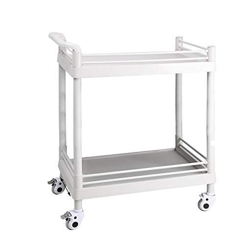 Salon Trolleys Mobiler Medizinischer Gerätewagen mit Rad, ABS Beauty Salon Equipment Rollwagen, 37/44,5/53cm Breit (Color : Style1, Size : 73×53x90cm)