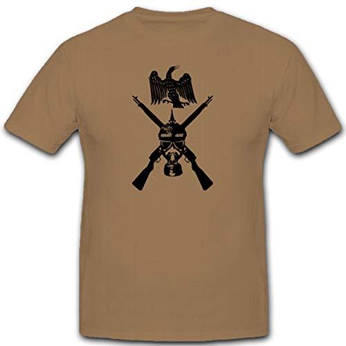 Preußischer Soldat Gasmaske Gewehr Adler Wk Wh Wappen Abzeichen Emblem - T Shirt #3617, Größe:XL, Farbe:Sand