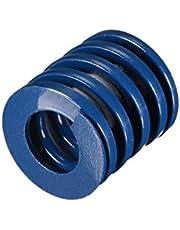 sourcing map Molde de compresión de carga liviana en espiral de 25 x 25 mm, troquelado azul resorte