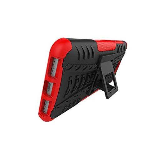 XINYUNEW Funda Huawei Y5 II 2016, 360 Grados Protective+Pantalla de Vidrio Templado Caso Carcasa Case Cover Skin móviles telefonía Carcasas Fundas para Huawei Y5 II 2016-Rojo