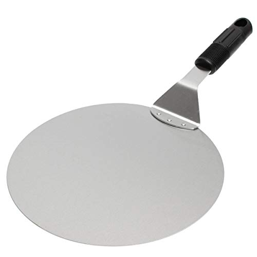 hhuanxiao Pala per Pizza Inox Acciaio Pizza Spatula Pizza Peel Shovel Turner Torta Sollevatore Vassoio Pan Casa Cucina Cottura Attrezzi Attrezzi 25cm