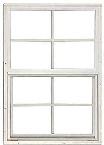 "SHED Window 14"" W x 21"" H, Flush Mount, White, Standard Glass"