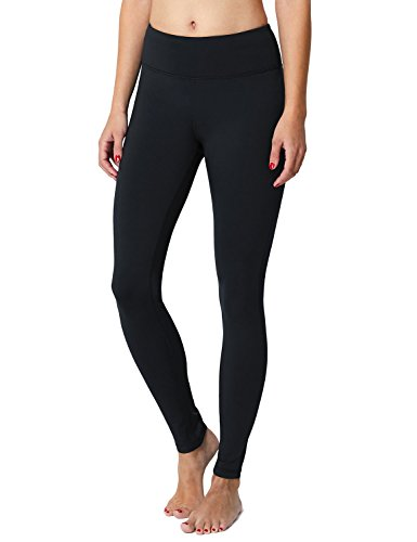 BALEAF Women's Fleece Lined Winter Leggings Thermal Yoga Pants Inner Pocket Black Size M