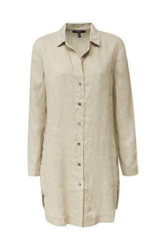 ESPRIT Collection Damen 040EO1F304 Bluse, 250/KHAKI BEIGE, 38
