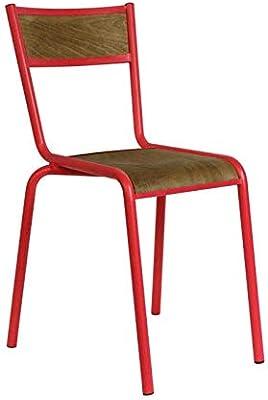 Freudenhaus Vintage Stuhl Easy Stapelbar Meeresgr/ün Shabby Chic Metallstuhl Outdoor Gartenstuhl
