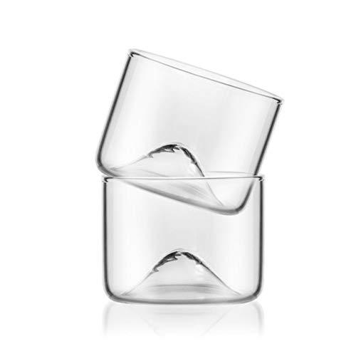 GIVO Vaso de Whisky de montaña con Vaso de Cerveza Base Copa de té de Agua de Vino Set Bar Drinkware