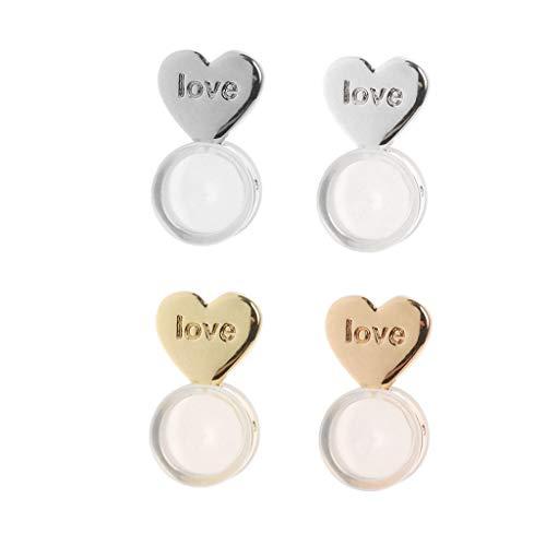 VVXXMO 10 piezas Love Heart Magic Earring Lifters, Earring Lifts Back, Ajustable, Pendiente hipoalergénico, Soporte para lóbulo de la oreja